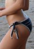 Tie Strings Black Bikini Bottom Crochet Details (2)