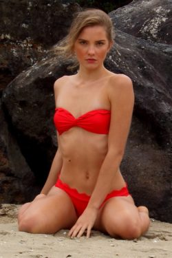red-bandeau-scallop-cut-mermaid-bikini