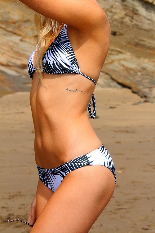 Hawaiian Coconut Leaf Triangle Bikini
